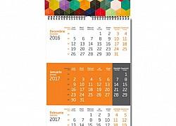 Calendar triptic